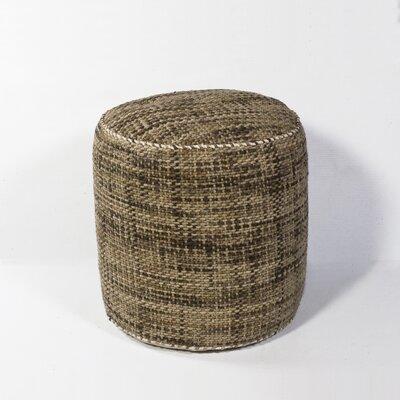 Jack Textures Pouf Ottoman Upholstery: Mocha
