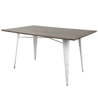 Tibo 59 Dining Table Color: Vintage White/Espresso