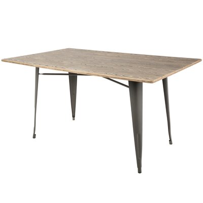 Tibo 59 Dining Table Color: Antique/Espresso