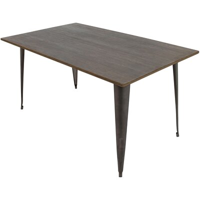 Claremont 59 Dining Table Color: Antique/Espresso