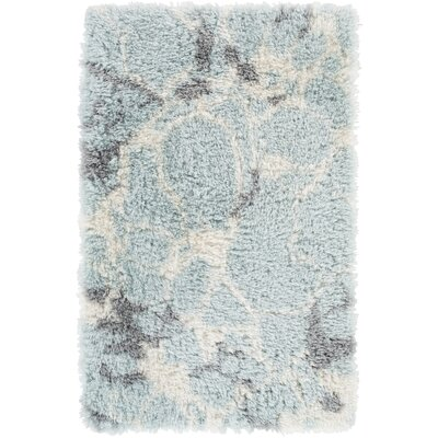 Keith Blue/White Area Rug Rug Size: 8 x 10