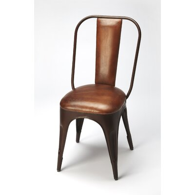 Corto Genuine Leather Upholstered Dining Chair