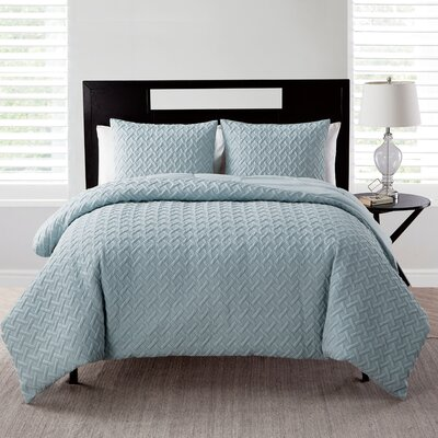 Oliver Comforter Set Color: Blue, Size: King