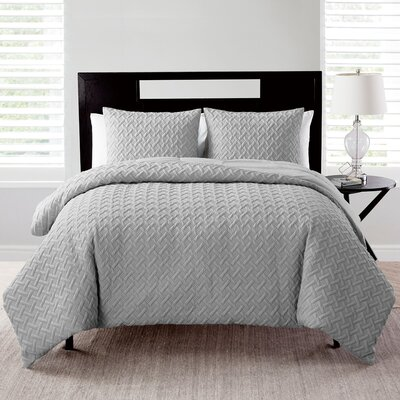 Oliver Comforter Set Color: Gray, Size: King