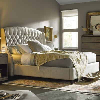 Julesburg Upholstered Panel Bed Size: King, Upholstery: Beige