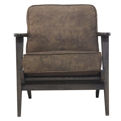 Mackenzie Armchair Upholstery: Mocha Hide