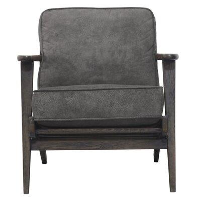 Mackenzie Armchair Upholstery: Pewter Hide