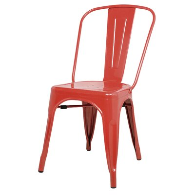 Dunton Side Chair Color: Red