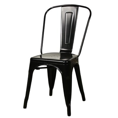 Ellery Side Chair Color: Black