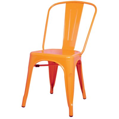 Ellery Side Chair Color: Orange