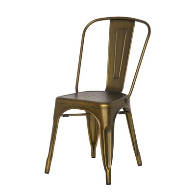 Ellery Side Chair Color: Brushed Copper