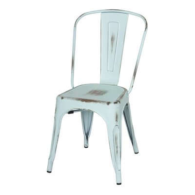 Ellery Side Chair Finish: Distressed Aqua