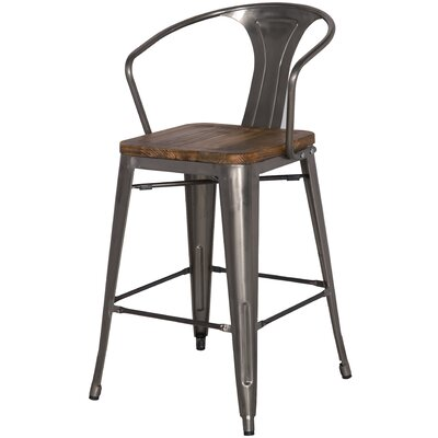 Ellery Solid Wood Dining Chair Finish: Gunmetal