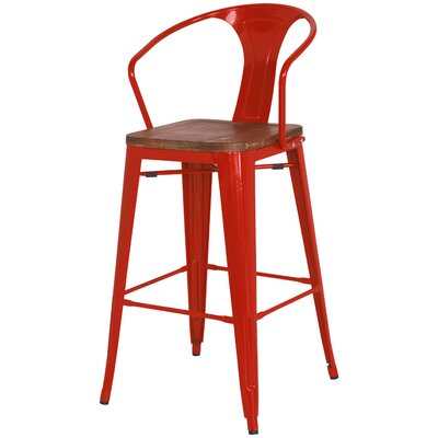 Ellery Solid Wood Dining Chair Finish: Red