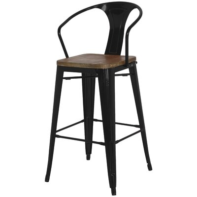 Ellery Solid Wood Dining Chair Finish: Black