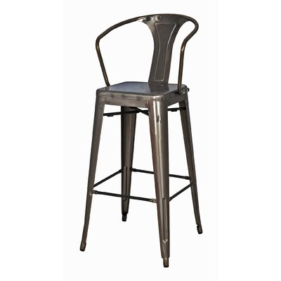 Ellery 26 Bar Stool Finish: Gunmetal