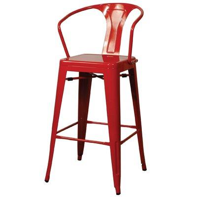 Ellery 26 Bar Stool Finish: Red