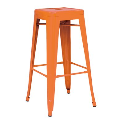 Ellery 26 Counter Height Stool Color: Orange
