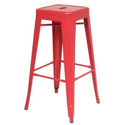 Ellery 30 Bar Stool Color: Red