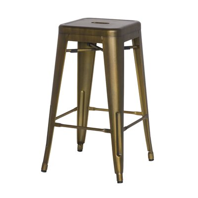 Ellery 26 Counter Height Stool Color: Brushed Copper