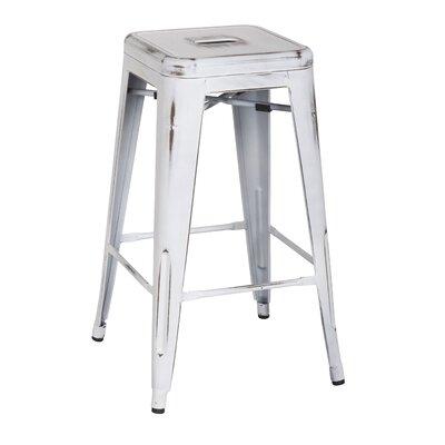 Ellery 26 Bar Stool Upholstery: Distressed White