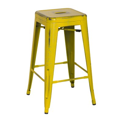 Ellery 26 Bar Stool Upholstery: DisYellow/Paint Drop
