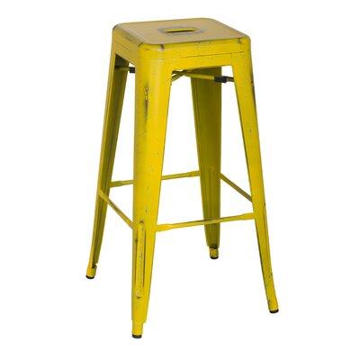 Ellery 30 Bar Stool Upholstery: DisYellow/Paint Drop