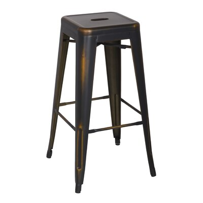 Ellery 30 inch Bar Stool Upholstery: Distressed Copper