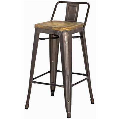 Ellery 26 Bar Stool Upholstery: Gun Metal