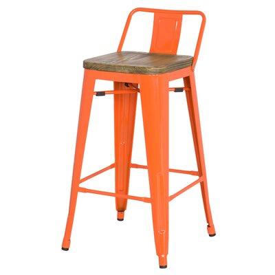 Ellery 30 inch Bar Stool Finish: Orange