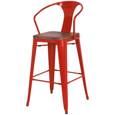 Ellery 30 Bar Stool Finish: Red