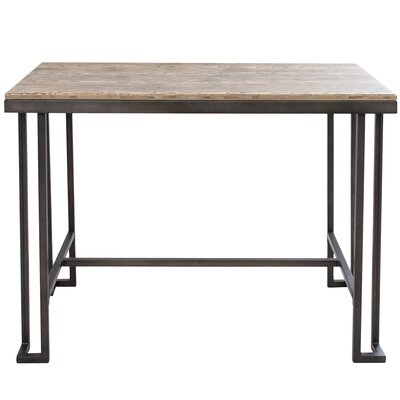 Calistoga Dining Table Finish: Antique Metal