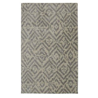 Krysta Gray/Beige Area Rug Rug Size: 5 x 7