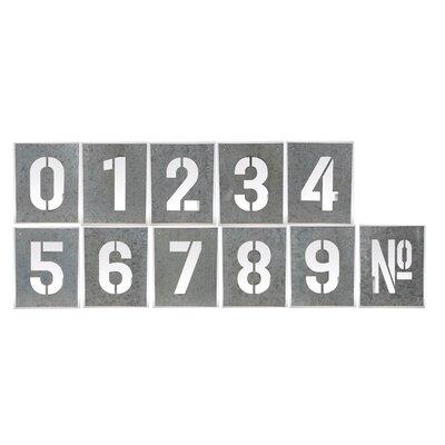 Number Iron Stencil 11 Piece Sculpture Set TADN8684 36930175