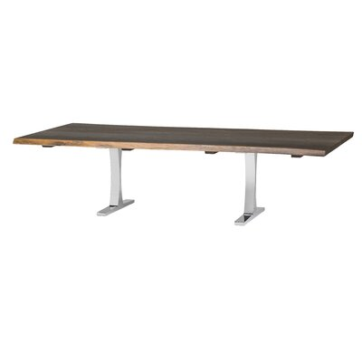 Marini Metal Base Dining Table Base Finish: Silver, Size: 29.5 H x 112 W x 44 D