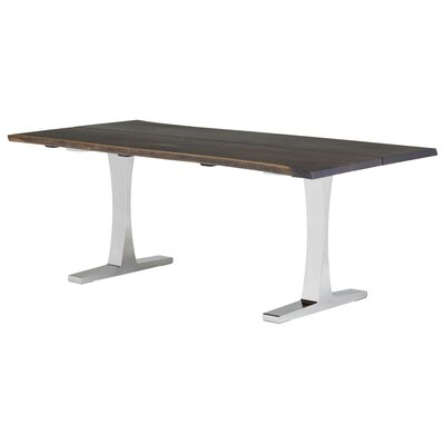 Marini Metal Base Dining Table Base Finish: Silver, Size: 29.5 H x 78 W x 40 D