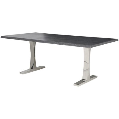 Marini Rectangular Dining Table Top Finish: Grey Oxidised