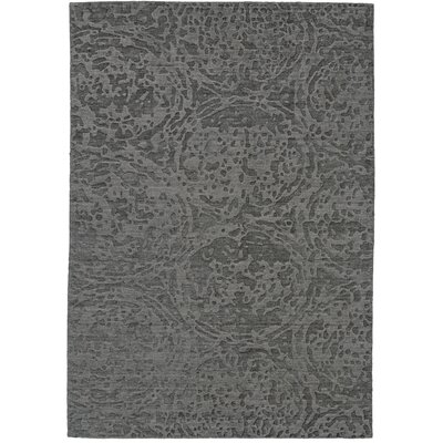 Bridgette Hand-Knotted Gray Area Rug Rug Size: 79 x 99