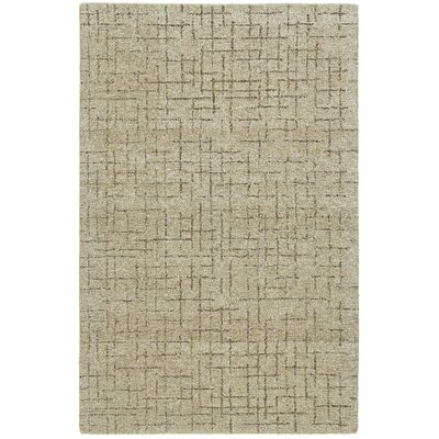 Glenn Hand-Tufted Beige Wool Area Rug Rug Size: Rectangle 36 x 56