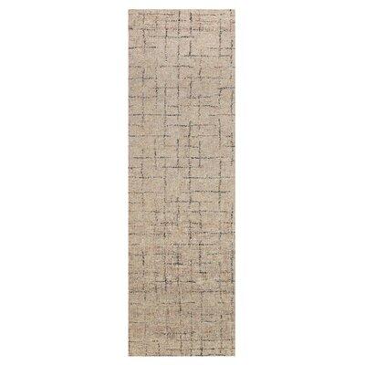 Glenn Hand-Tufted Beige Wool Area Rug Rug Size: Runner 26 x 8