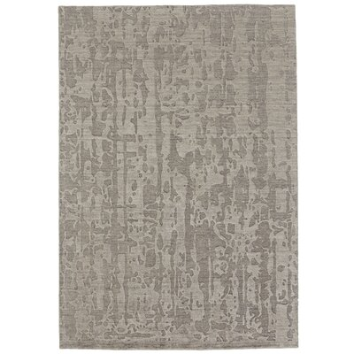 Mathis Hand-Knotted Gray Area Rug Rug Size: 96 x 136