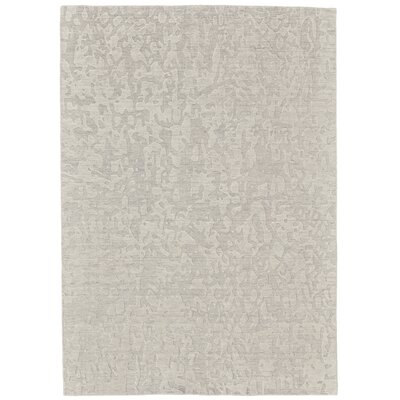Mathis Hand-Knotted Gray Area Rug Rug Size: 86 x 116