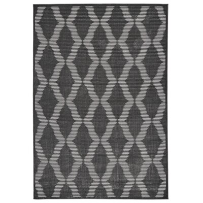 Witham Charcoal/Gray Area Rug Rug Size: 8 x 11