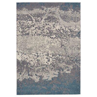 Galvan Turquoise/Gray Area Rug Rug Size: 8 x 11