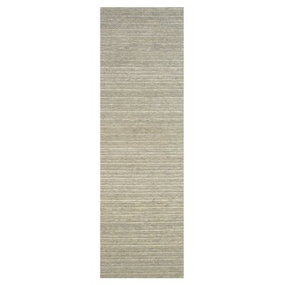 Glenn Hand-Tufted Smoke Area Rug Rug Size: Runner 26 x 8