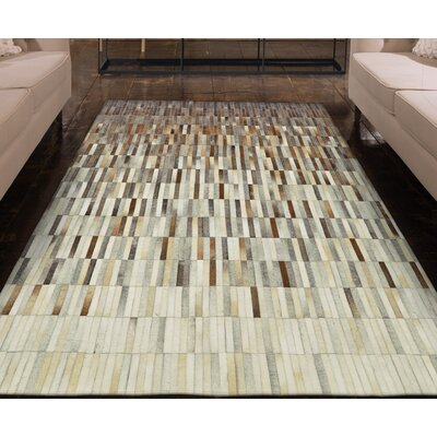 Alysa Hand-Stitched Brown/Gray Area Rug Rug Size: Rectangle 8 x 10