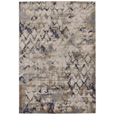 Jasmine Blue/Beige Area Rug Rug Size: Rectangle 22 x 4