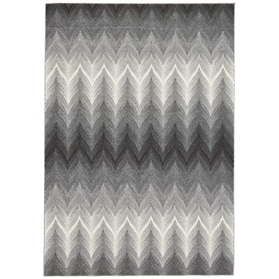 Crespo Ash/White Area Rug Rug Size: Rectangle 5 x 8