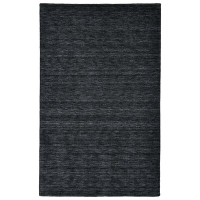 Samantha Hand-Woven Black Area Rug Rug Size: Rectangle 23 x 39