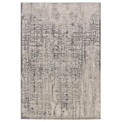Anya Gray/Beige Area Rug Rug Size: 8 x 11